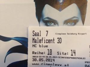 Maleficent mit Ticket