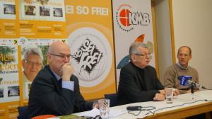 Mit Wolfgang Kumpfmüller und Wolfgang Heindl bei der Pressekonferenz
