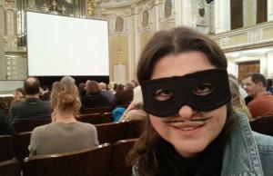 Kino zum Faschingsbeginn. Wer maskiert war, hat gratis Popcorn bekommen (Foto: Walter Oberascher)