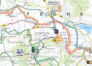 Jakobsweg Weinviertel Karte Mikulov zartbitter