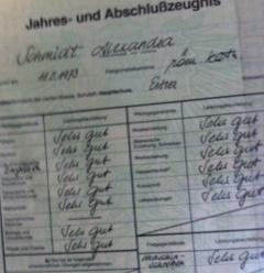 Abschlusszeugnis Hauptschule Alexandra Schmidt