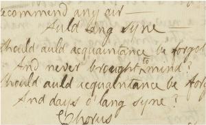 Das Manuskript von Robert Burns