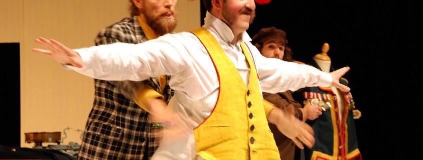 Der Schneider quetscht den Zangler in seine neue Uniform