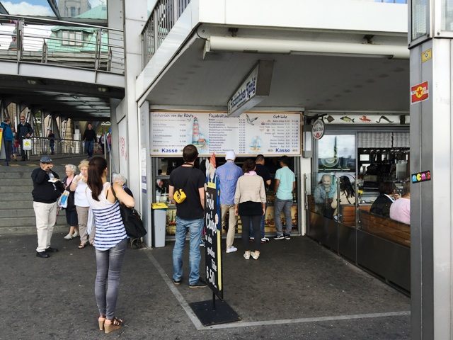 Fish and Chips am Hamburger Hafen